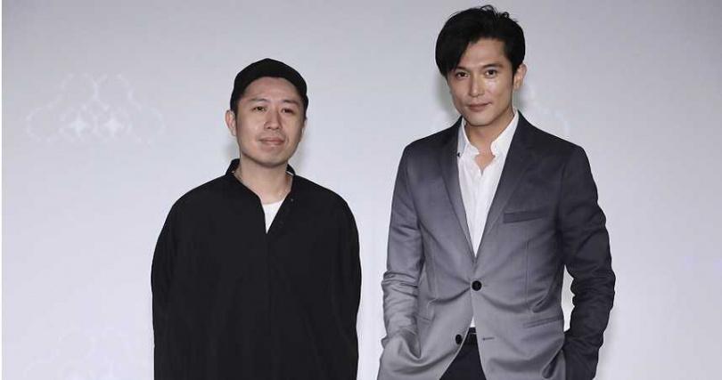 形象廣告《回家》由《怪胎》導演廖明毅(左)執導,邱澤主演。(圖/彭子桓攝)