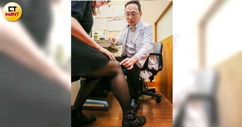 台灣約有350萬人飽受關節疼痛之苦,《特管法》的通過,提供病患多一個治療選擇。(圖/鄭清元攝)