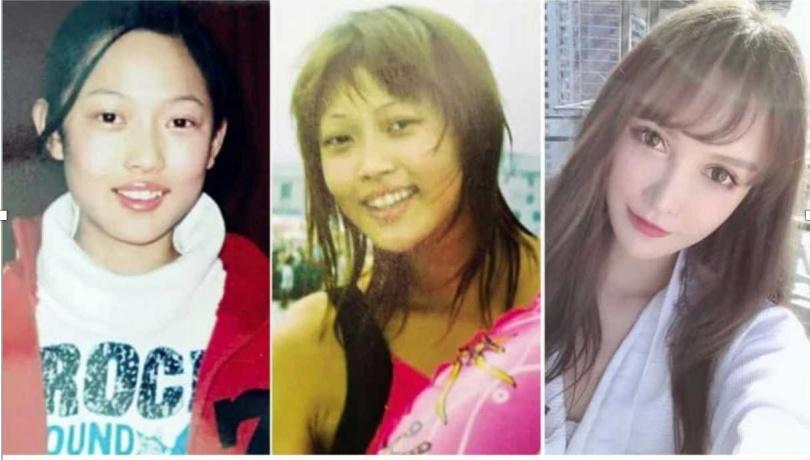 青春期就開始改變的吳曉辰,樣貌差很大。(圖/翻攝自微博)