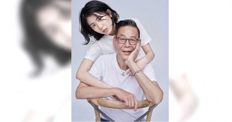 龍劭華和女兒陳璇。(圖/寶麗來國際娛樂)