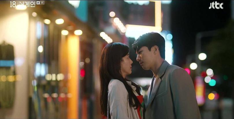 過去多演出「年下男」角色的魏嘏雋,在《重返18歲》中愛上姊姊輩的金荷娜。(圖/翻攝自網路)
