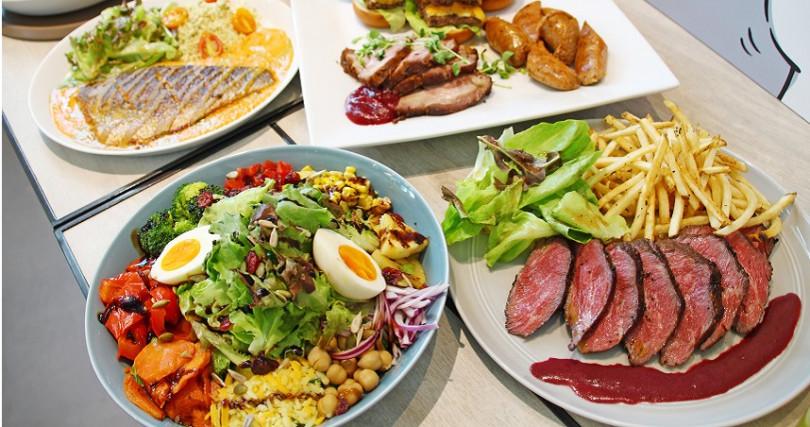 健身族大推餐廳「gonna共樂遊」,料理為地中海風,主打均衡六大營養素、增肌減脂。新開南港中信店。