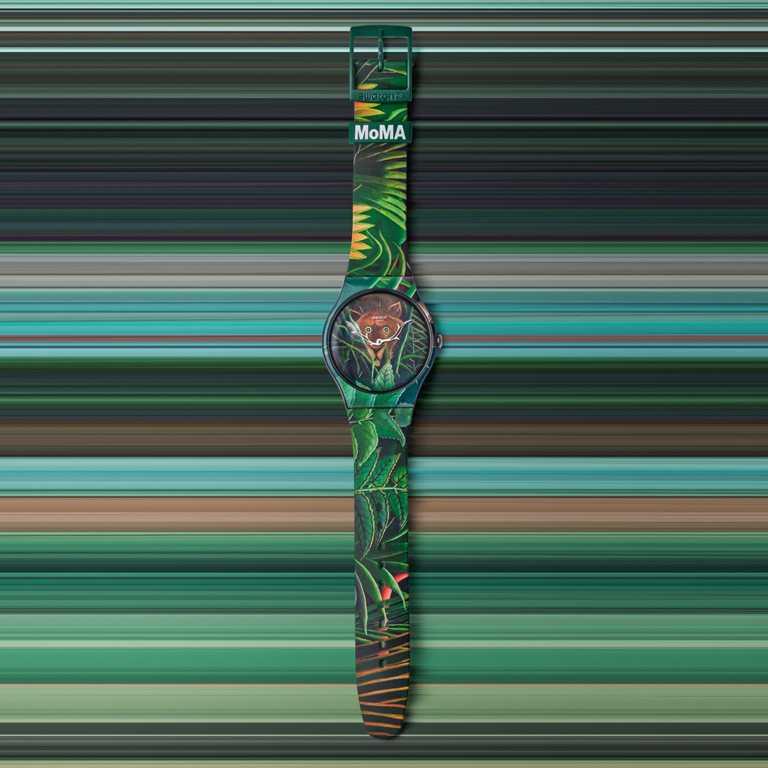 swatch x MoMA特別版腕錶,亨利盧梭《夢境》╱2,500元。(圖╱swatch提供)