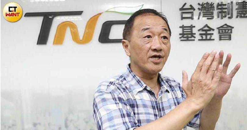台灣制憲基金會執行長林宜正說,美國希望台灣先立法建立防火牆,才願意進一步進行高科技合作。(圖/黃鵬杰攝)