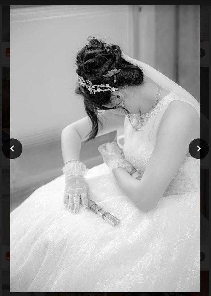 婚攝還拍下新娘噴腋下的畫面。(圖/翻攝自爆料公社)