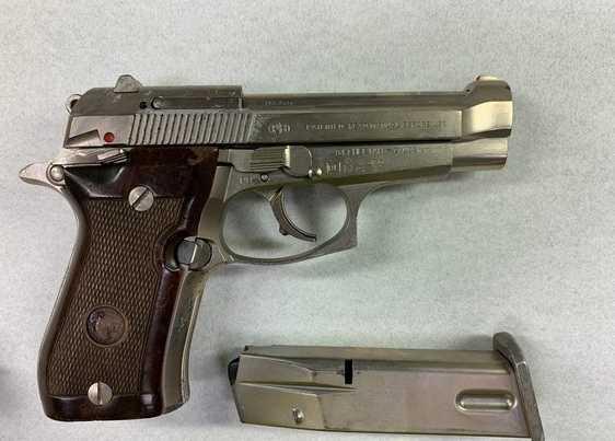警方查扣郭嫌使用的兇槍。(圖/讀者提供)