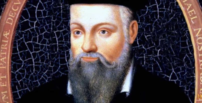 16世紀法國著名星象大師、大預言家諾斯楚代馬斯。(圖/翻攝自History Youtube)