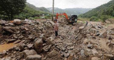 韓國暴雨釀6死8失蹤!哈格比水彈襲擊中部 災損持續攀升