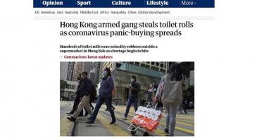 衛生紙更值錢? 香港3歹徒劫50包衛生紙 口罩庫存剩2個月