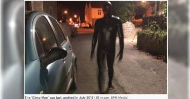 神秘「乳膠黑衣人」再次現身 英國小鎮居民陷入恐慌