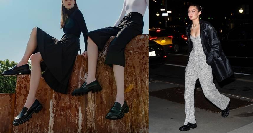美國超模 Gigi Hadid參加妹妹 Bella Hadid 的生日派對,穿了秋冬最流行的厚底德比鞋,超模穿搭學起來!