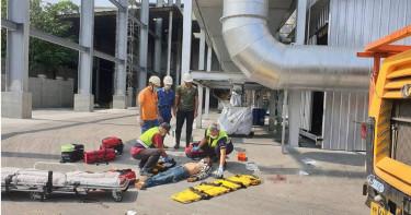 南投工業區重大意外 3作業工人墜20公尺慘死