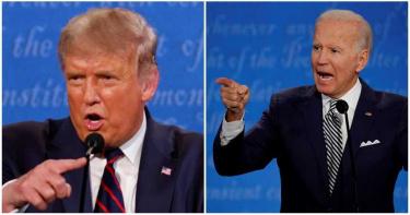 史上最爛總統辯論!川普拜登吵成一團 首場民調:6成民眾讚拜登表現最好