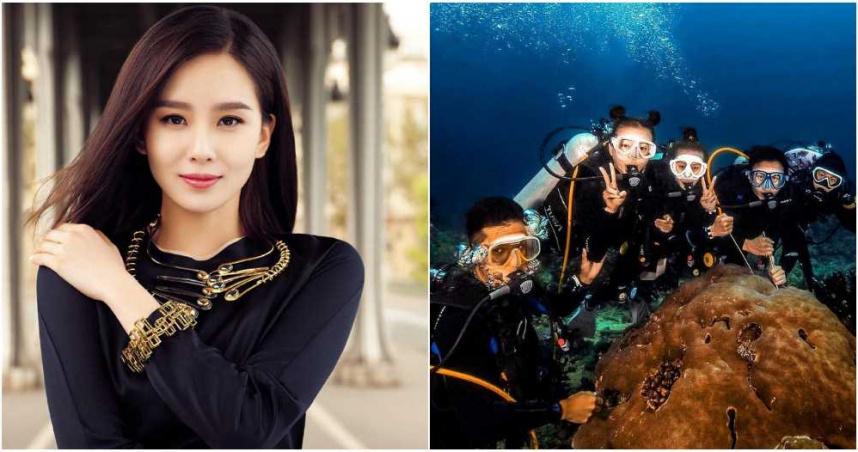 藝人愛拍水底照!網讚劉詩詩潛水超美 有「芭蕾舞者的修養」