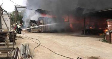 金門瓊林下午發生大火 一名工人受困喪生