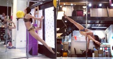 美胸、纖腰+蜜大腿! 北一女「超辣藥師」跳飛天鋼管…多人運動也OK