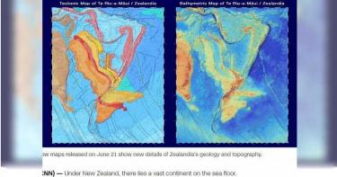 失落的海底新大陸 紐西蘭「西蘭大陸」新地圖亮相