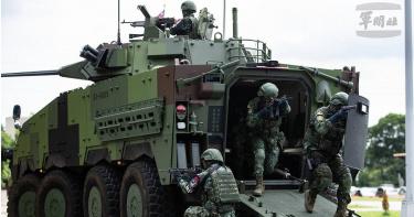 漢光演習防衛國家基礎關鍵設施 雲豹裝甲車載兵掃蕩