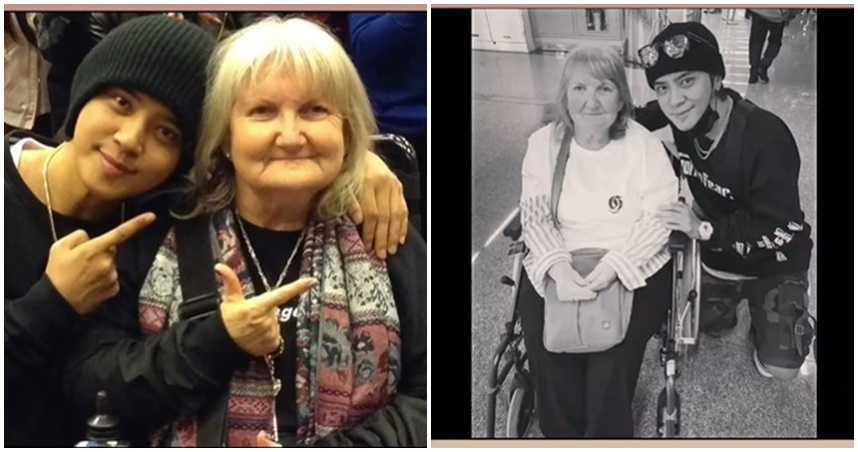 坐輪椅奔波支持!高齡鐵粉「英國奶奶」染疫病逝 羅志祥悲痛發聲
