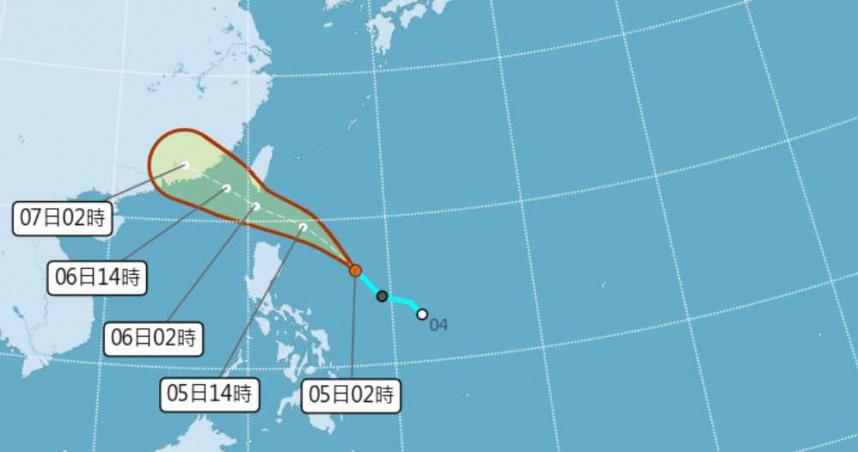 輕颱「烟花」最快今日形成!恐發陸警 這些地區嚴防雨勢
