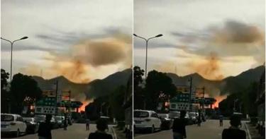 浙江高速公路油罐車爆炸 廠房瞬間被夷平、已知10死127傷