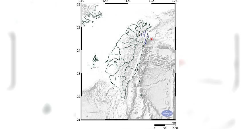 地牛翻身!宜蘭深夜規模4.3地震 最大震度2級