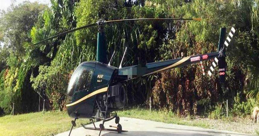 黑色R22直升機起降東海岸 男25萬交保稱:不知道是違法