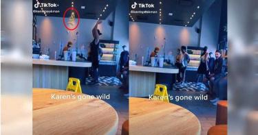 女朝星巴克櫃台扔香蕉皮 網怒批:顧客至上害死人