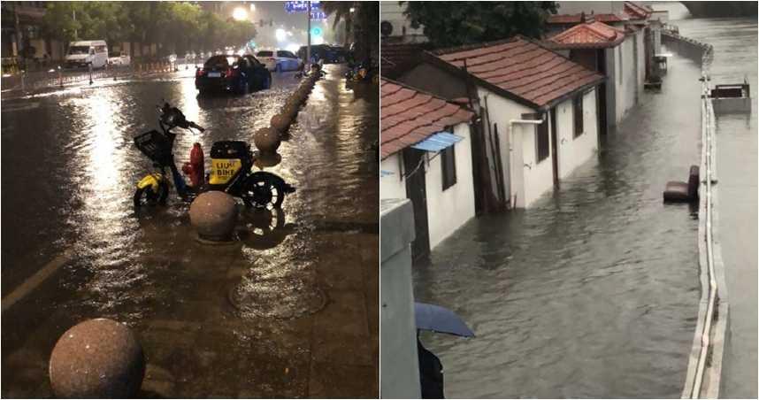 烟花颱風登陸上海 暴雨創浙江颱風最高紀錄