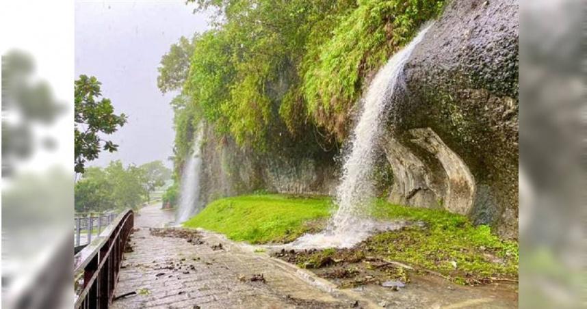雨下不停 台東八仙洞變水簾洞、鹿野高台變嘉明湖