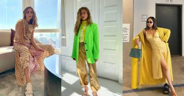 時尚名媛Olivia Palermo、潮人Aimee Song、Emili Sindlev都換上它!春夏必須挑戰的「螢光色」熱潮