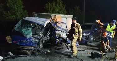 中秋連假車禍頻傳 台南3車連撞1死2傷