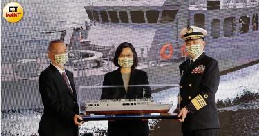 我國海軍新堡壘 總統為首艘高效能艦艇後續艦命名「塔江」