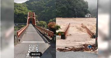 九州暴雨2死1命危 球磨川急流「直接沖走半截」鋼構深水橋