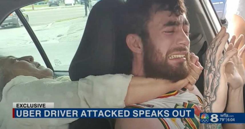 女護士搭Uber「睡醒突發狂」!司機慘遭「猛掐狂咬脖子」快斷氣