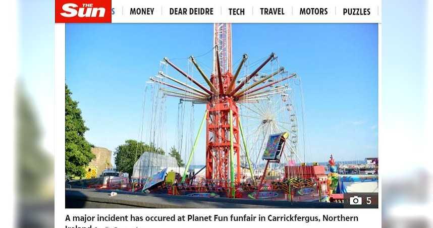絕命終結站現實版!遊樂園飛天設施繩索斷裂 至少「3名兒童」遭拋飛