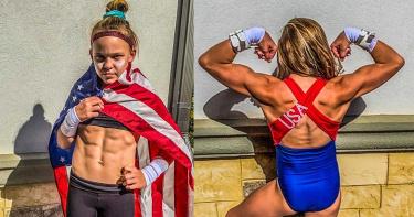10歲體操妹熱愛健身「練出六塊肌」!鍛鍊影片PO網狂吸5萬粉