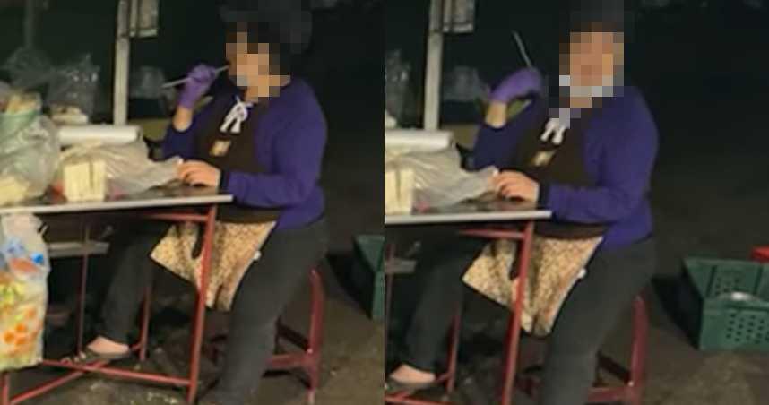 林口夜市「阿姨忘情摳10秒」!竹籤擦完繼續串食材 網紅傻眼:我還是吃完了