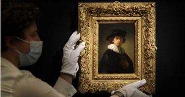 藝術拍賣市場活絡非凡 林布蘭自畫像5.5億落槌創紀錄