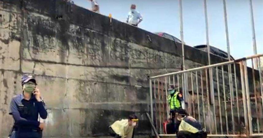 台東騎士自撞衝下橋墩 6公尺高落下昏迷