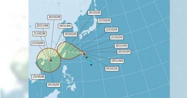 烟花颱風最快周二變中颱 周五恐撲台「警戒範圍曝光」
