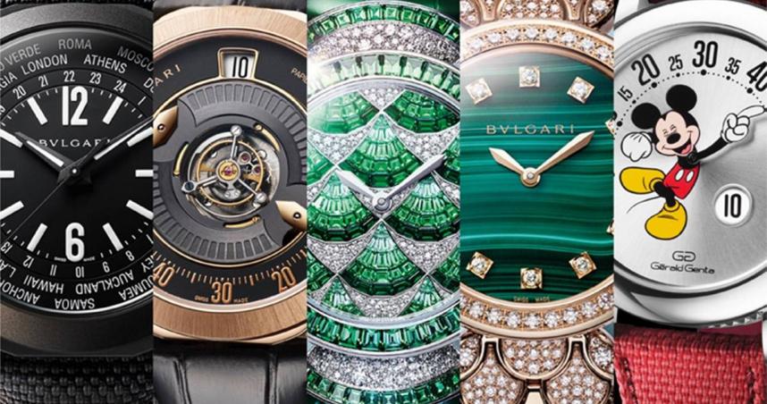 寶格麗日內瓦鐘錶日2021新作,世界時區、蝴蝶指針、中置陀飛輪、扇形鑲嵌、米奇錶盤華麗齊現