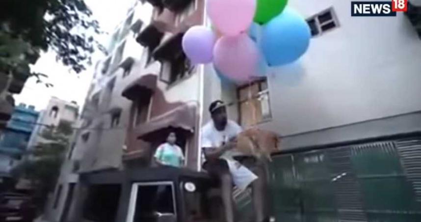 「4百萬訂閱」網紅虐待動物!將小狗綁汽球飛上天 遭警方逮捕