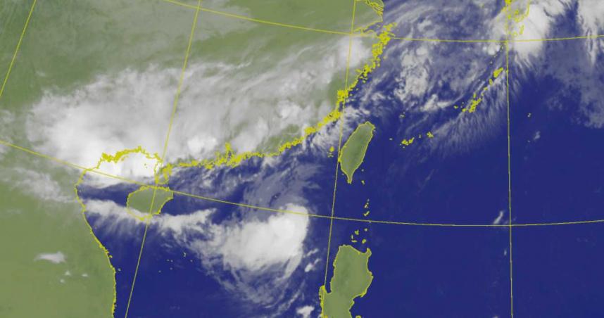 彩雲颱風今晚將「切過恆春半島」觸陸! 「梅雨滯留鋒」劇烈降雨連3天