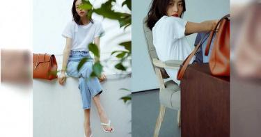 人美就是任性!大表姊劉雯白T配牛仔褲 一樣能拍出超時髦IG照!