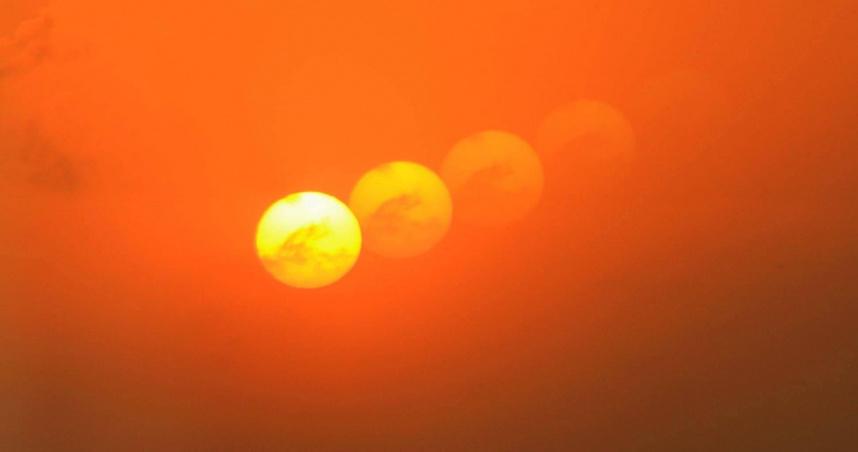 澎湖馬公罕現「幻日」奇觀 民眾驚呼:天空有5個太陽