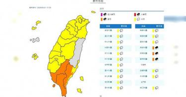 全台嚴防豪大雨「規模不輸颱風」!高屏山區累積雨量「上看900毫米」