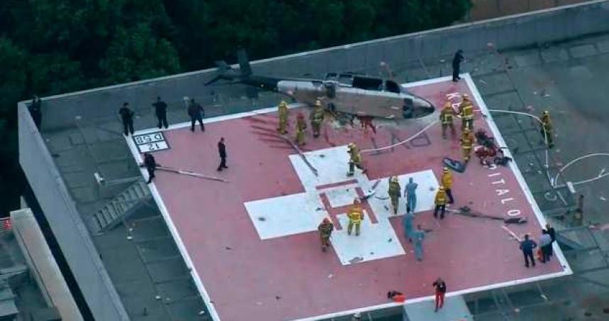 直升機成功運送需移植心臟 隨即墜毀醫院頂樓停機坪