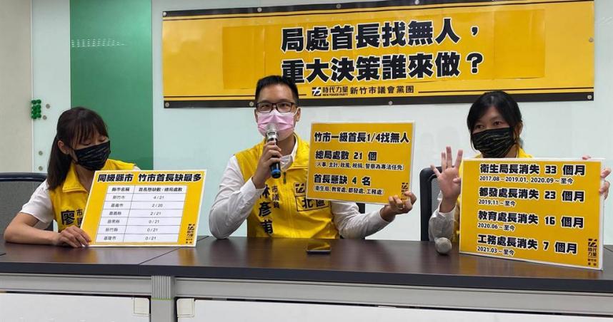 新竹市府21局處4個局處長懸缺 衛生局長竟長達33個月