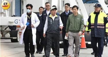 武漢肺炎/陳時中巡視寶瓶星完畢 鎖定70位採檢